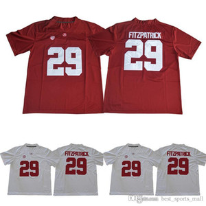 Alabama كريمسون Tide 8 Jones 2 Jalen Hurts 3 Ridley 29 Minkah Fitzpatrick 9 Bo Scarbrough Red White 2018 Sugar Powl Champions NCAA Jersey