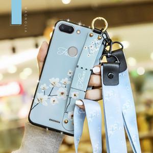 Phone case para xiamo redmi note 4x 4 com glitter diamante colhedor de pulso cinta banda de mão capa mole para xiaomi redmi 6a 6 pro coque