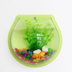 Wandhalterung Fish Bowl Acryl Aquariumbehälter Hanger Goldfish-Pflanzen Home Decor