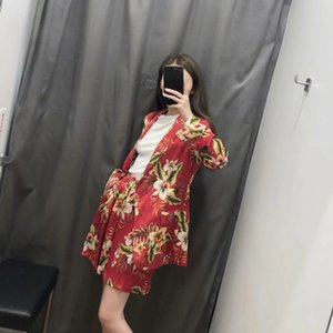 2019 New Products INS New Style Europe And America WOMEN'S Dress Printed Suit Jacket