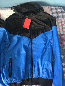 Para hombre caliente de la chaqueta Nueva Hombres con estilo delgada ocasional de la chaqueta del otoño del resorte Windrunner chaquetas de la capa Deportes rompevientos para Hombre
