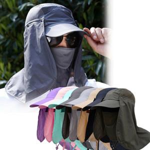 Hot Outdoor-Männer Brim Angeln Sonnenhut Summer Travel Anti-UV-Hüte Cap Anti-Moskito