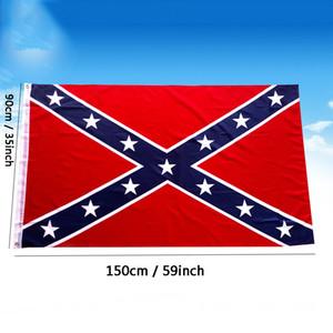 Bandeira rebelde Bandeira 3x5 FT Dois Lados Impresso Rebelde confederado bandeiras da guerra civil de poliéster Bandeiras nacionais Bandeiras customizável DBC BH2687