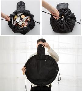 Free Shipping Women Drawstring Cosmetic Bag Fashion Travel Makeup Bag Organizer Make Up Storage Pouch Toiletry Beauty Kit Box Wash Bag