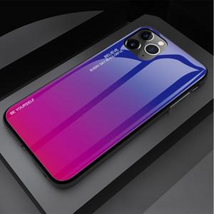 DHL Pour iPhone11 6 / 6p 7G 7plus 8plus iPhonex XS XR XSMAX verre Téléphone Gradient mode Personnaliser Luxury Designer Phone Case