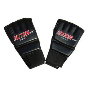 Nuovo cuoio 1 Coppia PU guantoni da boxe Sport Uomini Half Finger Gloves Muay Thai Kick Boxing Training guantoni da boxe