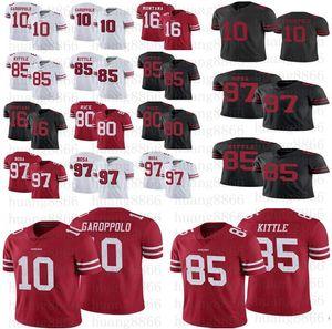 Gli uomini le donne 49ergiovani 10 Jimmy Garoppolo maglia 85 George Kittle 97 Nick Bosa Jerry Rice Joe Montana Divisa