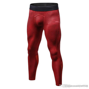 Free shipping Fitness male basketball running training pants elastic compression fast pants sports tights pants f01
