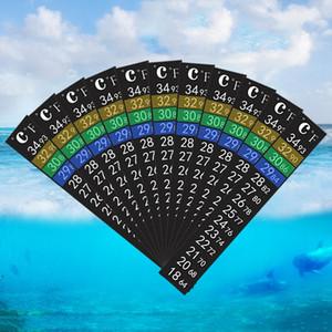 De doble escala peces de acuario tanque de líquido la temperatura del termómetro etiqueta palo-en Fahrenheit LCD digital de la tira adhesiva pegajosa VT0200