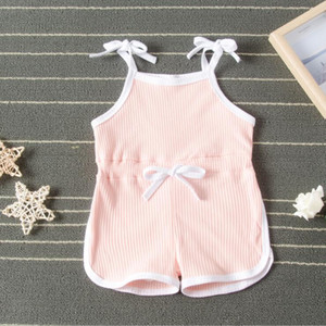 Kids Newborn Cotton Breathable Summer Girls Climb Jumpsuits Suspender Baby Clothes Infant Designer Fashion Onesies Rompers Clothes B823 Ktqw