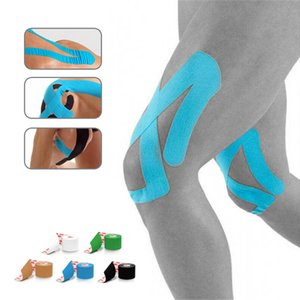 heap Elbow & Knee Pads Cotton Elastic Kinesiology Tape Therapeutic Athletic Waterproof Sports Safety Bandage Muscle Support Adhesive Kine...