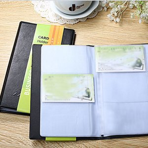 Business Card Book Business Affairs high-capacity Solid Imitation Leather OPP Bag Packaging Three Models Available Black
