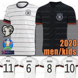 2020 독일 축구 유니폼 8 KROOS HUMMELS 레 우스 MULLER 베르너 홈 멀리 축구 Trikots 태국 최고 품질 저지