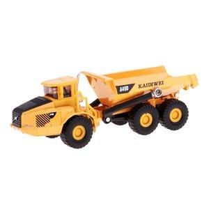 1:87 Construction Vehicles Modelo Engenharia Car Dump Truck Toy presente Modelo