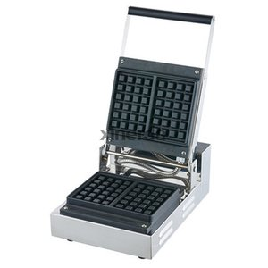 220v commercial waffle maker machine   Square Waffle Maker Cast Iron Material single head Waffle machine baker