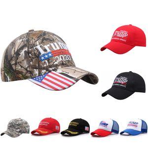 Donald Trump Camouflage Hat Mantenha América Grande 2020 Tampão da bola bordado Carta ajustável Snapback Hat For Man Mulheres VT1746