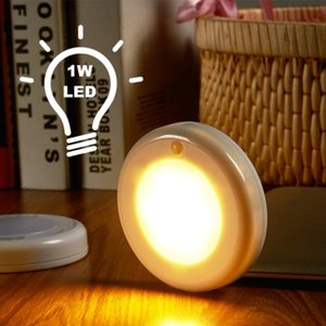 Lightme Utorch LED Night Light Индукционная лампа человеческого тела Круглый NightLight Для спальни Шкаф Шкаф PIR LED Night Light Smart Motion