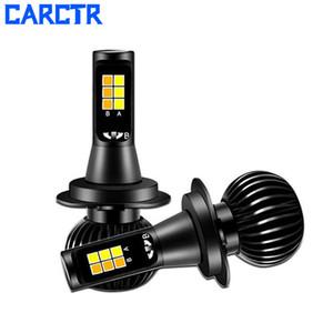CARCTR Led Fog Light for Car Fog Lamp H1 H3 H7 H8 H11 880 Far Near Yellow White Light Two-color Led Modified Headlights 2 PCS