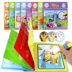 100pcs Magic Water Drawing Book Coloring Book Doodle & Magic Pen Painting Drawing Board For Kids Toys Birthday Gift free shopping
