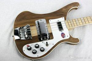 Ricken 4001 RARE TRANSLÚCIDO WALNUT vindima 4000 4003 4 Cordas Elétrica Bass Guitar Neck Thru Corpo Um PC Neck corpo