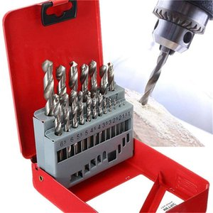 1 Set Twist Drill Bits High-speed Steel 13pcs 1.5-6.5 mm / 19pcs 1-10mm Twist Drill Hss Set With Wood Hole Case