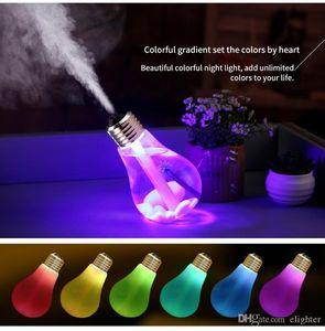Difusor de bombilla USB humidificador ultrasónico hogar Oficina Mini difusor de Aroma LED luz nocturna aromaterapia Mist Maker botella creativa 5VDC