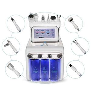 6 1 Küçük Kabarcık Cilt Bakımı Araçlar Ultrasonik RF Hydra Derin Yüz Gözenek Temizleyici Yüz Masajı Makinası