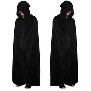 Halloween Costume Adult Death Cosplay Costumes Black Black Hooded Cloak Scary
