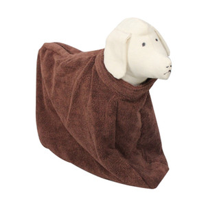 Pet Special Bathrobe Bath Towel For Pet Dog Shop Zipper Nylon Clasp Drying Towel For Dog Easy To Wear Super Absorbent Water