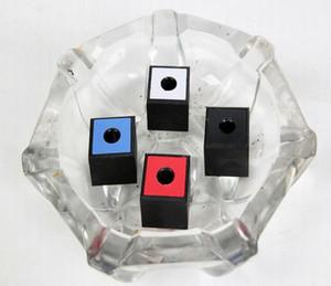 담배 봉 유리 흡연 파이프에 대한 최신 다채로운 플라스틱 광장 재떨이 스토리지 박스 홀더 사무실 연기 블록