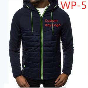 WP-5 Winter Jacket Men Casual Warm Hooded Coat Thicken Down Cotton Jacket Zipper Warm Casual Outwear Custom Any