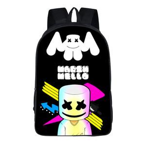 3D-Druck Marshmello Rucksack Kinder Schultaschen Outdoor-Taschen Reisen Umhängetaschen für Jungen und Mädchen