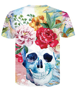 Free shipping 2019 new design 3d t-shirt short sleeve crew neck casual men's top tees summer new arrival 3d skeletons printed design AE002
