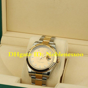 20 style Mens New II DIAMOND DIAL TWO TONE Datejust 18K GOLD 116333 126334 116300 Asia 2813 Movement Mechanical Men's Automatic Watches