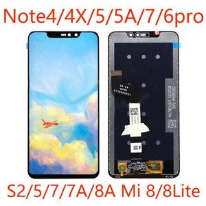 50pcs High-Quality Mobile Phone LCD Touch Screen Assembly panels For XiaoMi Rad Mi Note4 5 6 7 8A 8Lite Repair And Replacement DHL