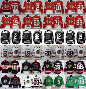Chicago Blackhawks Jersey Hockey Duncan Keith Jonathan Toews Patrick Kane Corey Crawford Alex Kirby DeBrincat Dach Saad Clark Griswold Red