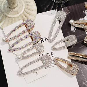Neue arrvial Vintage Faux Perle Eingewickelt Haarnadeln Mädchen Glitter Zubehör Gold / Silber Metalllegierung Haarspange Wassertropfen Barrettes 10 STÜCKE
