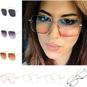 Очки кадров Мода Женщины Double Beam солнцезащитные очки ретро солнцезащитные очки очки Anti-UV очки Увеличенные ВС очки A ++