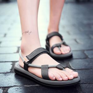 Высококачественные мужские босиком обувь Рыбалка Beach Men Flip Plops Веревочные тапочки Сандалии Наружная легкая мужская обувь Tenis Masculino