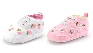 2020 Mode-Frühlings-Herbst-Baby-Schuhe für Neugeborene Druck Blumenbaby-Mädchen-weicher Sohle erster Wanderer Anti-Rutsch-Baby-Schuhe für 0-18M