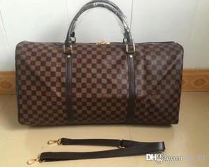 Лидирующий качество классической моды вещевой сумки мужчины путешествия мешки большой емкости саквояж ручной клади в течение ночи Weekender мешок Keepall 54CM