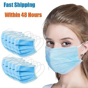 Disposable Protective Mask 3 Layer Ply Non-wove Filter Mouth Face Mask Anti-dust Meltblown Earloop Mouth Protective Masks