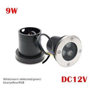 Открытый 3X3W DC 12V сада СИД подземный Лампы пейзаж Свет 9W High-Power закаленное стекло IP67 водонепроницаемый светодиодные лампы