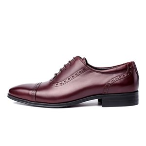 Classic Business Mens Genuine Leather Shoes Cow Leather Fashion Wedding Dress Shoes Italy Formal Pointed Toe Gentleman Footwear