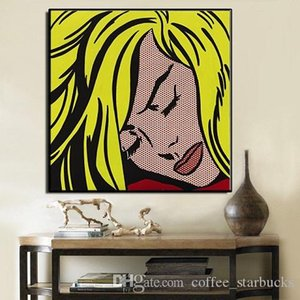Roy Lichtenstein Sleeping High Quality Hand Painted & HD Print Portrait Wall Art Oil Painting On Canvas Home Decor Multi sizes Ry09