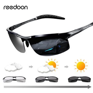 Quadro Reedoon fotossensíveis óculos polarizados lente UV400 de alumínio e magnésio Driving Goggles For Men Alta Qualidade