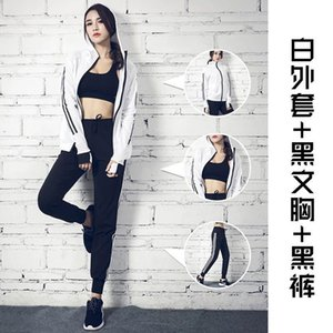 Women Tracksuit 3 Pieces Yoga Set Spring Autumn Gym Fitness Running Jog Set Sportswear Loose Sports Jacket Sweatshirt Sports Harem Pants