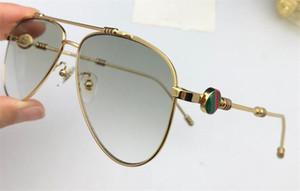 Последние моды дизайнер солнцезащитных очков 6002 пилот рамки защиты кадров сшивание цвет ноги светлый цвет декоративной очки высокого качества