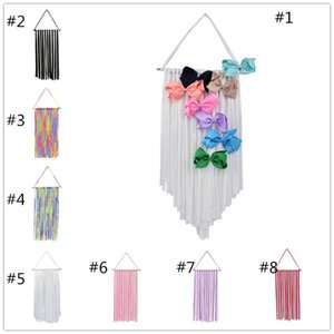 Girls hairpin storage 30x60cm 8 colors fashion hair accessory holder cotton receiving belt Kids room decoration display stand Wallhang