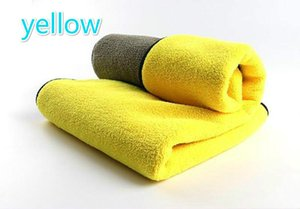 Hot sale microfiber car cleaning towel thickened super absorbent high density coral fleece car wash towel 30 * 40